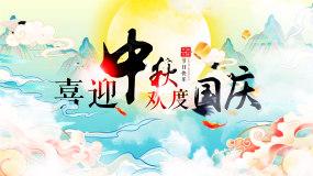 中国风国潮风中秋节视频视频素材