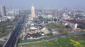 航拍城市空镜日景大气大场景视频素材
