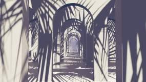 室内抽象几何隧道视频素材