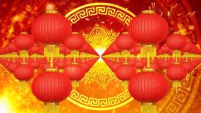 红灯笼喜庆节日春节晚会舞台背景视频素材