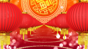 火火的中国中国风红灯笼春节晚会背景视频素材