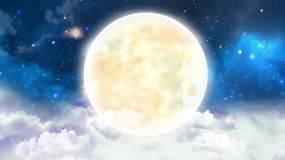 4K月圆之夜中秋圆月视频素材