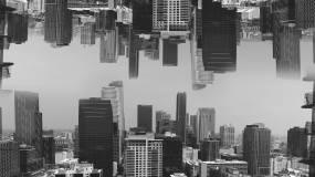 意境建筑_天空之城仰望星空视频素材