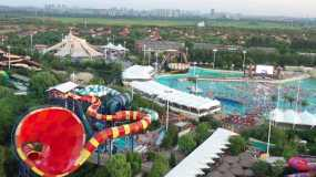 4K原素材-上海欢乐谷玛雅水公园视频素材