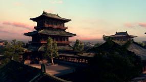 大气中国古建筑一组视频素材