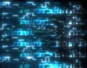 电流方片刷光过场视频素材