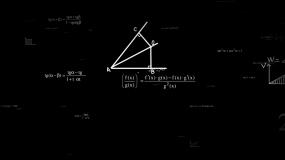 数学公式黑白-带透明通道视频素材