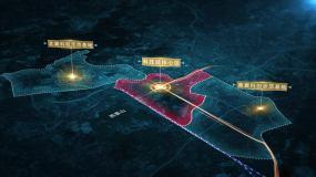卫星地图高铁交通科技区位包装AE模板
