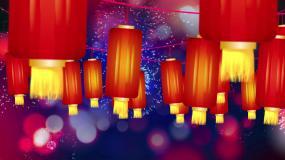 节日喜庆红灯笼屏幕背景视频素材
