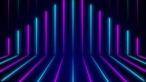 4K霓虹光舞台循环视频素材