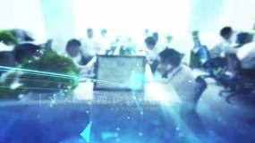 蓝色科技感企业图片视频展示AE模板AE模板