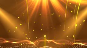 金色粒子大气背景视频视频素材