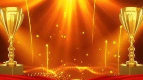 金色粒子奖杯背景视频素材