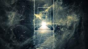方形门框宇宙之门视频素材