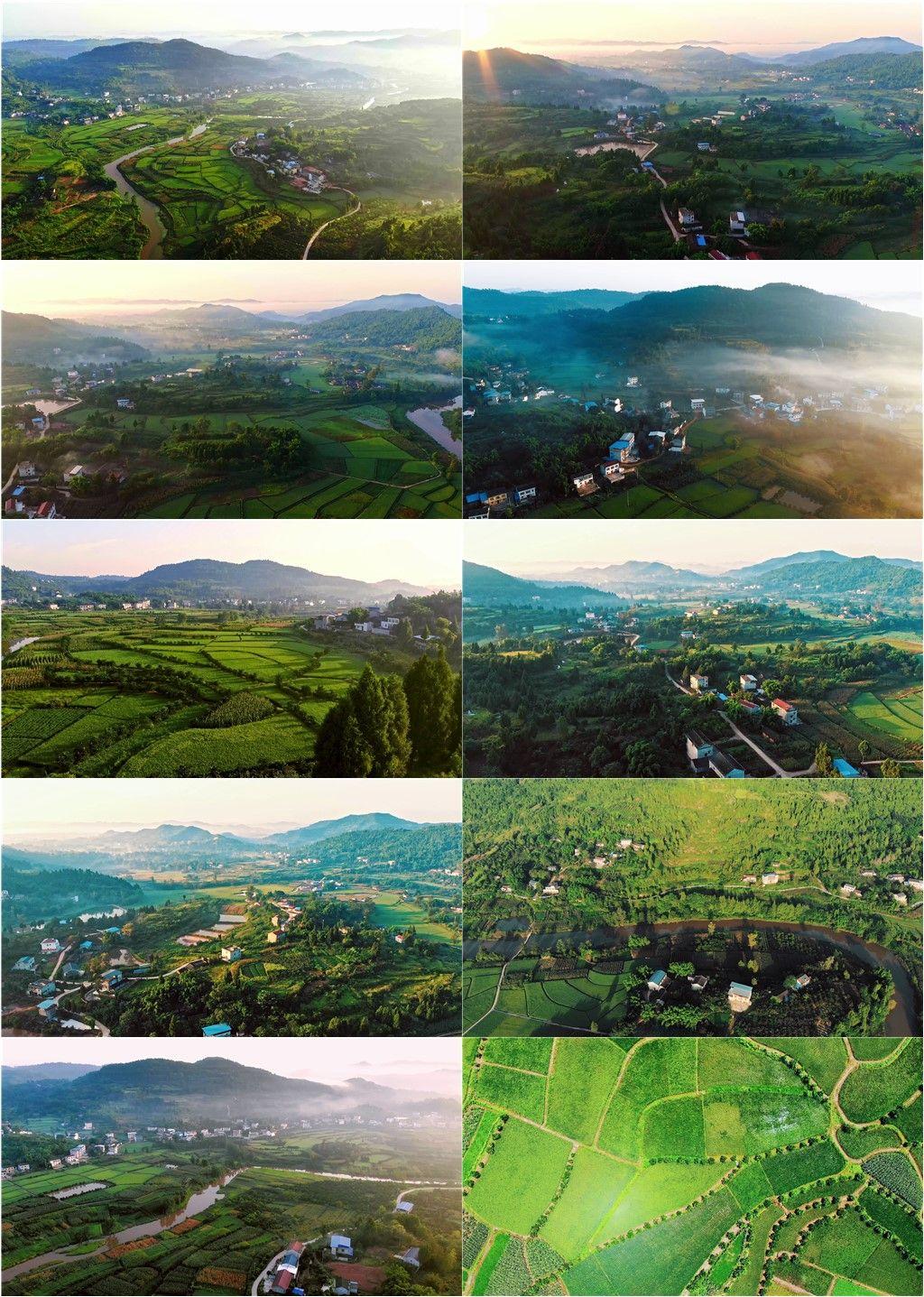 航拍乡村田园风光丨4K丨原创实拍