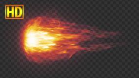陨石火球拖尾-alpha通道视频素材包