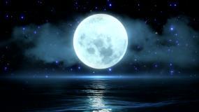 梦幻海上圆月led舞台视频背景视频素材