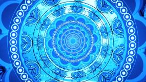 蓝色妖媚印度舞曲肚皮舞背景视频素材