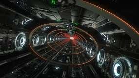 科幻LED隧道穿梭VJ背景素材视频素材