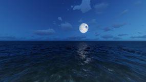 2k超清夜晚星空延时动态天月亮月光视频素材包