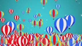 4K卡通热气球-循环4视频素材