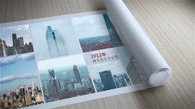 卷轴企业发展历程版本1AE模板