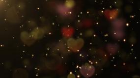 4K浪漫唯美彩色爱心粒子光斑背景视频素材