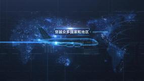 【原创】智慧科技数据航空2AE模板