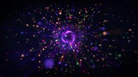 唯美放射粒子大屏LED视频素材视频素材