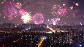万家灯火快节奏生活城市夜景小区视频素材