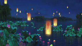 荷塘夜景视频素材