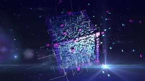 科技魔方背景视频素材