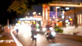 4K办公回家夜景路灯红绿灯霓虹斑马线隧道视频素材