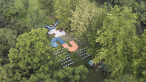 【4K】室外草坪婚礼场布视频素材