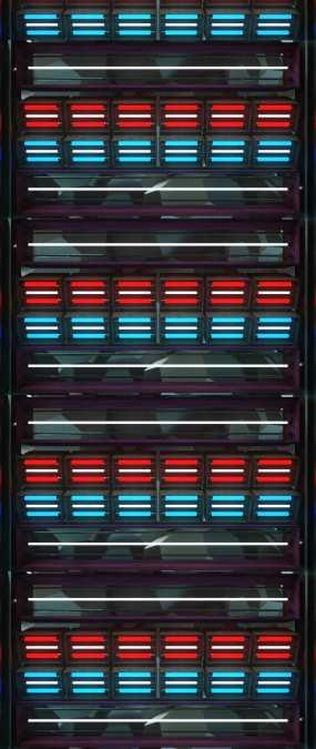 天幕霓虹灯管节奏视频素材