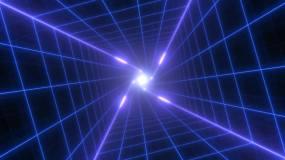 未来派波扭曲网格灯视频素材