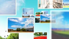 清新校园照片空间展示AE模板