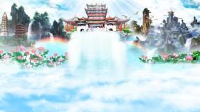 蓝色仙境天堂LED演出背景视频素材