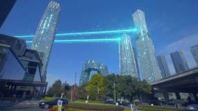 4K科技北京-科技城市智慧城市数字化大楼视频素材