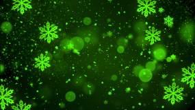 冬天圣诞节雪花飘落舞台背景视频素材