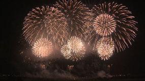 烟花放烟花新年过年颁奖典礼庆祝庆典视频素材
