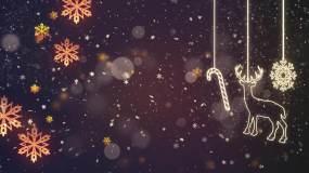 4K-圣诞节唯美粒子背景视频素材