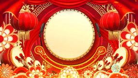 喜庆中国风节日年会舞台背景视频03视频素材