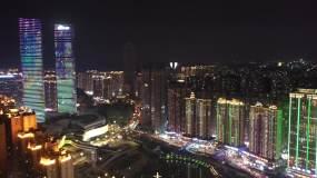 航拍贵阳花果园的夜景,没想到如此漂亮!视频素材