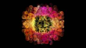 红色粒子流体爆炸冲击波爆炸扩散特效视频视频素材