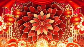 喜庆中国风节日年会舞台背景视频02视频素材