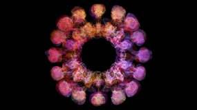 五彩粒子粉末爆炸粉尘烟雾流体特效视频素材视频素材