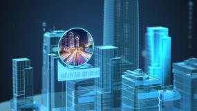 大数据智慧城市科技虚拟城市AE模板