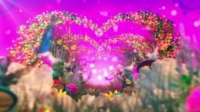 浪漫花园蝴蝶拱门背景视频素材