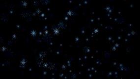 雪花无限循环粒子合成背景视频素材